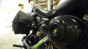 Yksityiskohta moottoripyörästä
