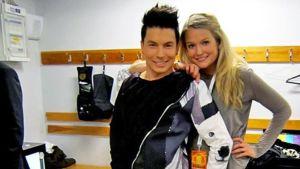 Lilli Norio ja Antti Tuisku Emma-gaalan backstagella
