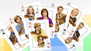 Aamu-tv:n korttipakka.