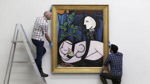 Pablo Picasson maalaus Nu au Plateau de Sculpteur