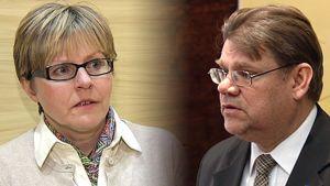 Heidi Hautala ja Timo Soini
