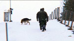 Rajavartijoita Venäjän rajalla