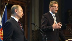 Vladimir Putin ja Matti Vanhanen.