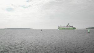 Tallink Linen laiva Itämerellä.