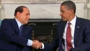 Silvio Berlusconi ja Barack Obama.
