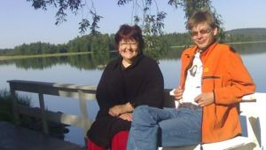 Anneli Heino ja Pekka Verho Lautsian lavasteissa