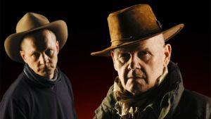 Nämä miehet eivät ole oikeita sheriffejä, vaan näyttelijät Markku Maalismaa ja Antti Litja.