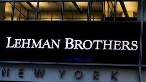 Lehman Brothers-investointipankin julkisivu New Yorkissa.
