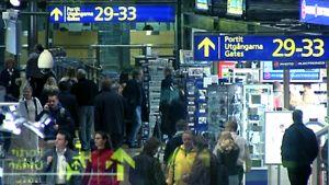 Helsinki-Vantaan lentoaseman ihmisvilinää