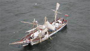 Pogoria-alus merihädässä
