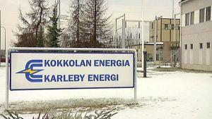 Kuvassa Kokkolan Energian liikekilpi.