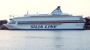 Silja Europa-matkustaja-alus Helsingissä.