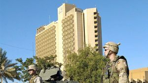 Palestine-hotelli Bagdadissa, Irakissa.