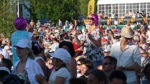 Yleisöä Pori Jazz-festivaaleilla.