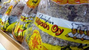 Porokylän leipomon tuotteita.