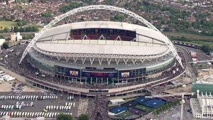Ilmakuva Wembleyn stadionista.