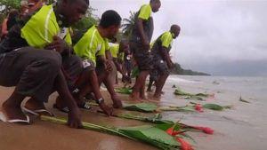 Sambian pelaajat kunnioittavat vuoden 1993 lentokoneonnettomuuden uhreja.