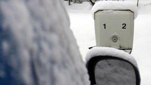 Auton lämmitystolppa.