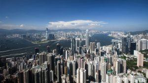 Näkymä Hongkongista, kun ilmansaastepilvet ovat poissa.