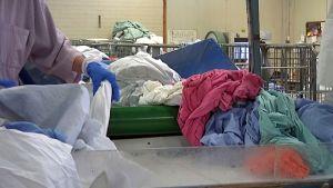 Pyykkejä pesulassa