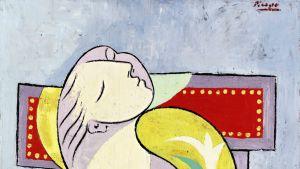 Yksityiskohta Picasson maalaamasta  La Lecture -taulusta.