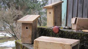 Keskeneräisiä linnunpönttöjä