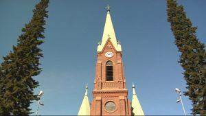 Mikkelin tuomiokirkon torni.