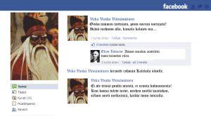 Väinämöisen kuvitteellinen Facebook-profiili.