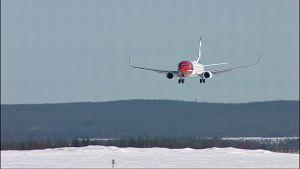 Norwegian ensimmäinen lento Rovaniemelle laskeutui noin kymmenen minuuttia myöhässä.