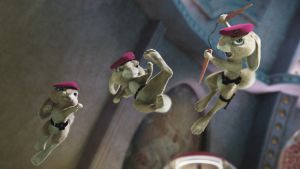 Kolme animoitua ninjakania.