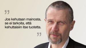Grafiikka YLE:n Vaalien vahtikoira -blogiin, kuvassa ajankohtaisohjelmien toimituspäällikkö Matti Virtanen