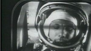 Kosmonautti Juri Gagarin avaruuslennolla
