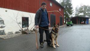 Ilmari Virtanen ja Wieso-koira.