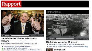 SVT Nordnyttin raportti Suomen eduskuntavaaleista