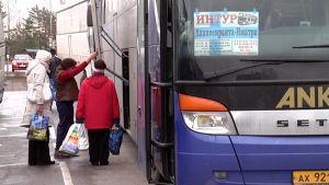 venäläinen turistibussi