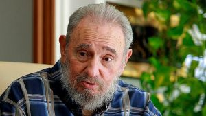 Kuuban entinen presidentti Fidel Castro Havannassa