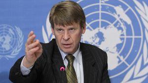 YK:n ihmisoikeusneuvoston erityisraportoija Martin Scheinin.