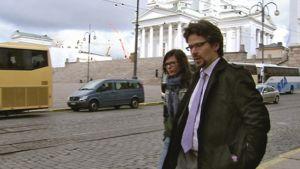 Ville Niinistö ja Anni Sinnemäki poistuivat hallitustunnusteluista pienelle tauolle keskiviikkona 18. toukokuuta.