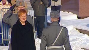 Tasavallan presidentti Tarja Halosen virkaanastujaiset vuonna 2006.