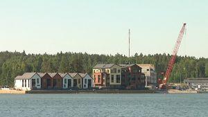 Näkymä Sipoonrantaan mereltä.