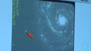 Kuva supernovasta galaksi M51:ssä.