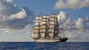 Maailman toiseksi suurin purjealus Parkki Kruzenshtern