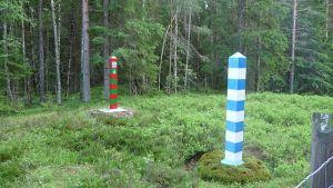 Suomen ja Venäjän raja Lappeenrannan Vainikkalassa