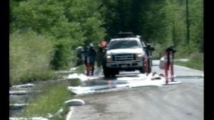 Puhdistusurakoitsijoita Yellowstonen puistossa heinäkuussa.