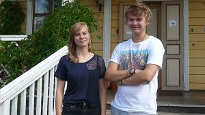 Hanna Zwart ja Sami Itävuori seisovat rapulla