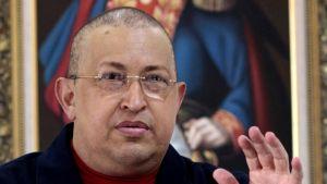 Hugo Chavez 5. elokuuta.