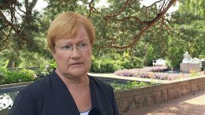 Tasavallan presidentti Tarja Halonen.