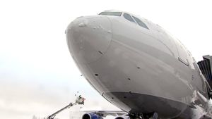 Finnairin lentokoneen nokka