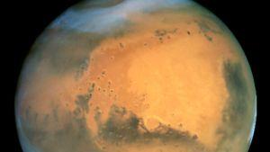 Hubble-avaruusteleskoopilla otettu kuva Marsin pinnasta.