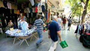Näkymä kadulta Kreikasta.